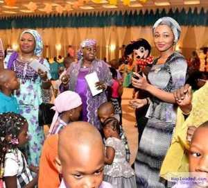 Zahra Buhari Pictured During The New Year Children